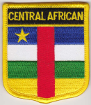 Central African Republic Embroidered Flag Patch, style 07.